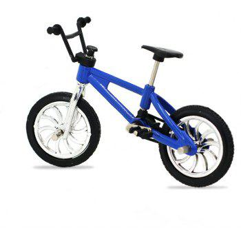 Miniature Finger Mountain Bike Excellent Functional Toys - BLUE