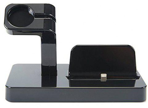2-in-1 Smart Watch Charging Holder for Apple Watch Smart iPhone - BLACK