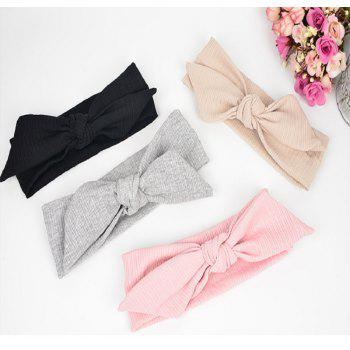 The New Rabbit Ear Hair Ribbon Bow - BLACK