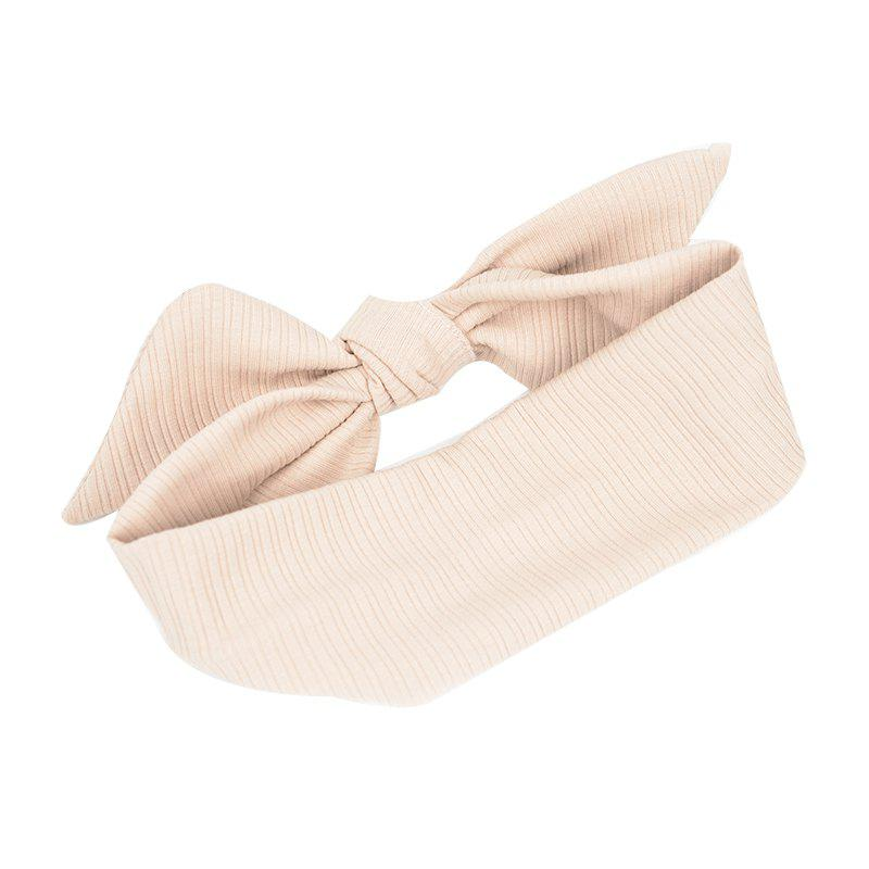 The New Rabbit Ear Hair Ribbon Bow - LIGHT KHAKI