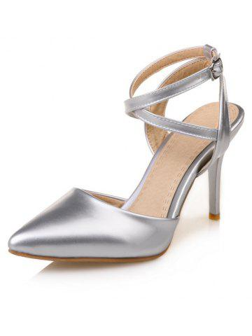 Women's Sandals Modern Stylish Chic Pure Patent Leather Pointed Toe High  Heel