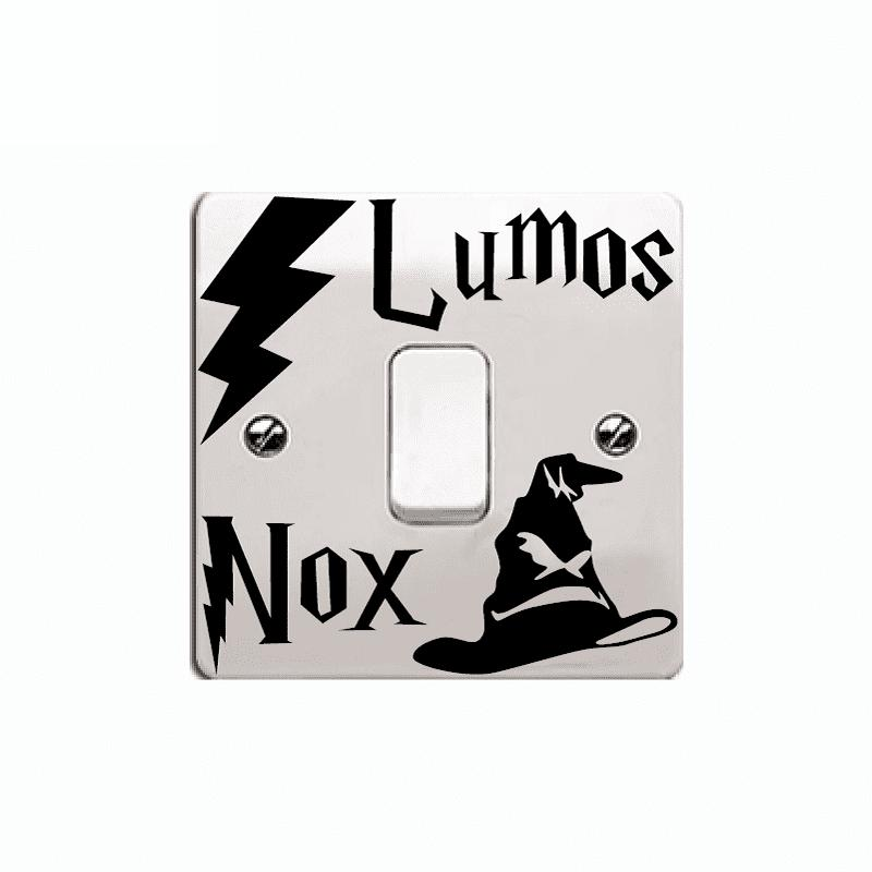 Movie Switch Sticker Lumos Nox Vinyl Wall Stickers for Kids Room Home Decor opening window with cats vinyl wall stickers for kids room home decoration