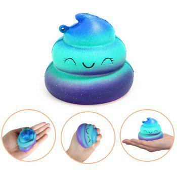 Jumbo Squishy Poop Emoji Stress Relief Soft Toy for Kids and Adults - TRON BLUE