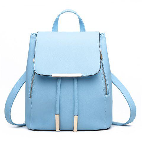 Fashion Cute PU Leather Women Backpacks - BABY BLUE