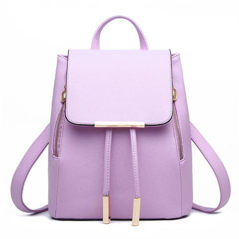 Fashion Cute PU Leather Women Backpacks - PURPLE MIMOSA