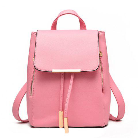 Fashion Cute PU Leather Women Backpacks - PINK
