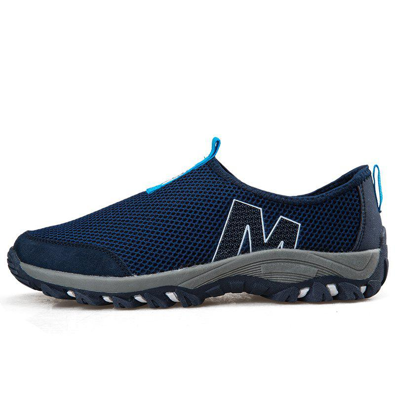 ZEACAVA Mesh Breathable Men's Sports Shoes - COBALT BLUE 43