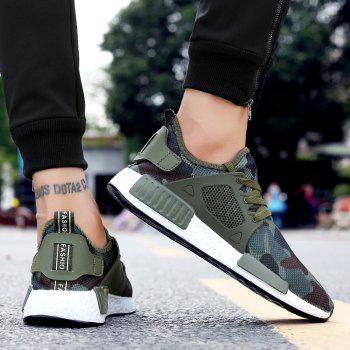 ZEACAVA Summer Breathable Lightweight Casual Shock-Absorbing Mesh Shoes - GREEN 42