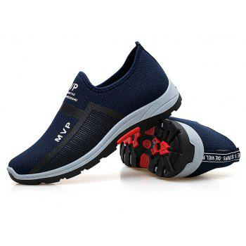 ZEACAVA Men's Fashion Casual Lace Up Sports Shoes - SAPPHIRE BLUE 42