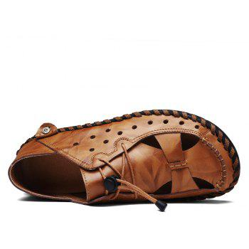 ZEACAVA Fashion Business Breathable Leather Shoes for Men - DEEP COFFEE 42