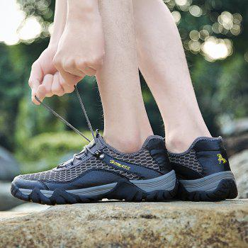HOMASS Men Casual Hiking Wear Water Outdoor Mesh Climbing Breathable Shoes - GRAY 38