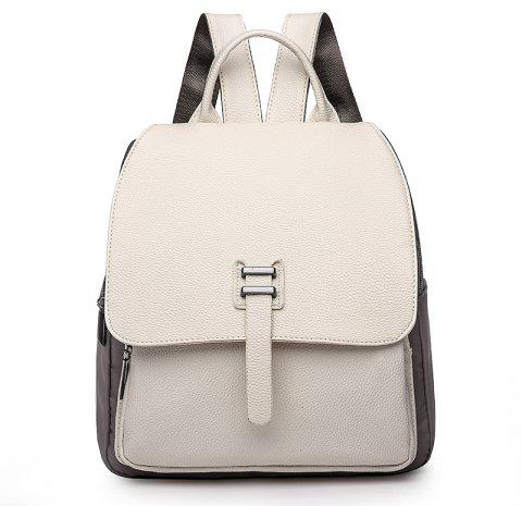 Fashion Casual Simple Girls Backpack - WHITE