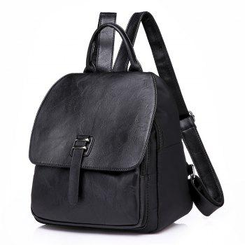 Fashion Casual Simple Girls Backpack - BLACK