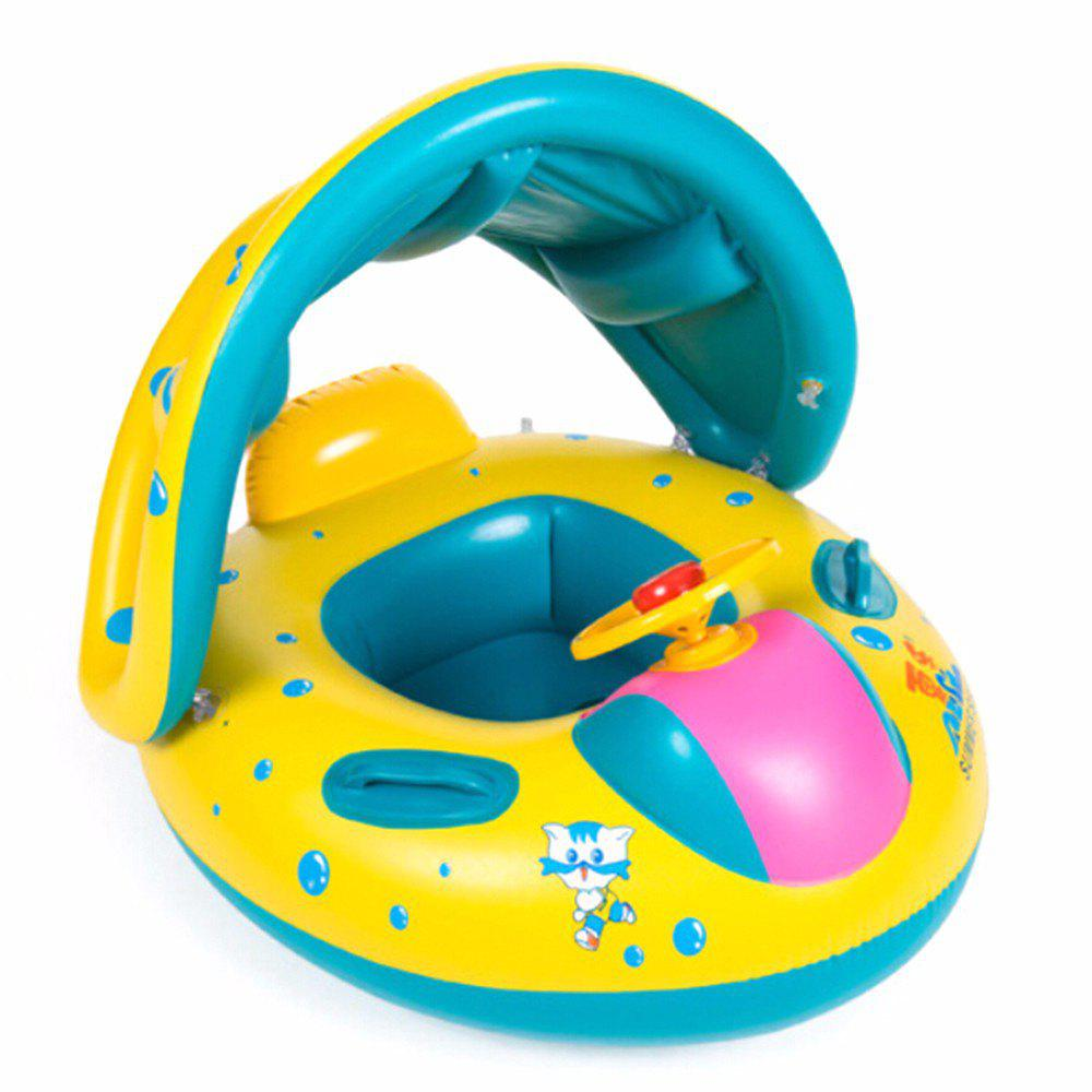 Inflatable Swimming Ring for Children with Horns - multicolor