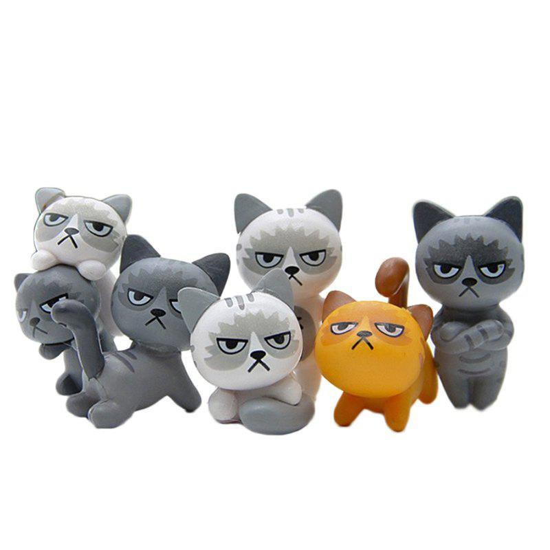 Super Cute Lovely Unhappy Cats Action Figure Toy Kids Gifts 6pcs 6pcs set 8cm trolls movie figure collectible dolls poppy branch biggie pvc trolls action figures toy for kids christmas gifts