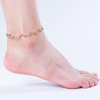 Fashion Wave S-shaped  Zircon Anklet JL0001 - multicolor A