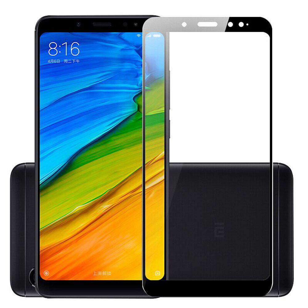 Naxtop Full Screen Protector Tempered Glass for Xiaomi Redmi Note 5 Pro -Black - BLACK