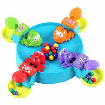 Crazy Frog  Eat Beans for the Ball with Bead Feeding Children Board Game - multicolor A