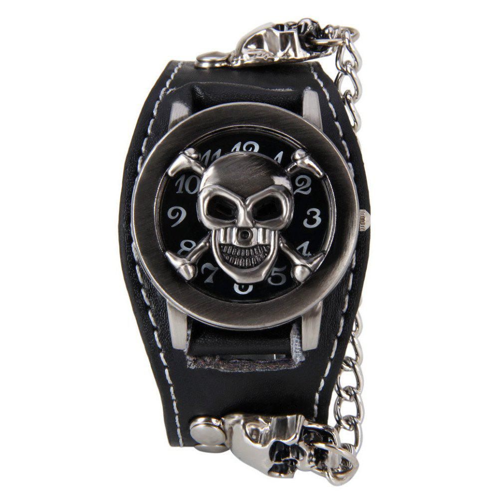 V5 Men Retro Skull Stylish Hot Watch - BLACK