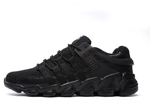 Flying Woven Ivory Sports Shoes - BLACK 43
