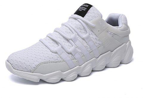 Flying Woven Ivory Sports Shoes - MILK WHITE 43