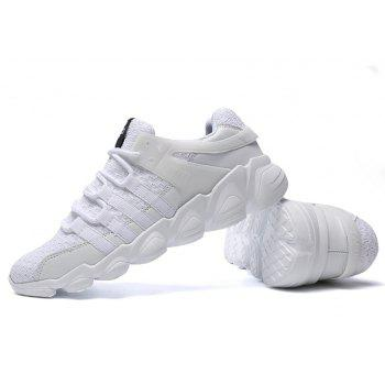 Flying Woven Ivory Sports Shoes - MILK WHITE 42