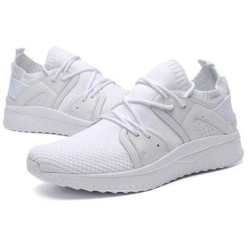 Fly Socks Wrapped Casual Sneakers Shoes - WHITE 42