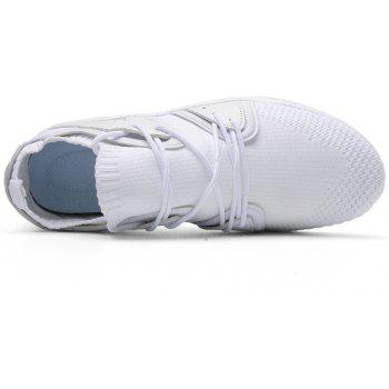Fly Socks Wrapped Casual Sneakers Shoes - WHITE 44