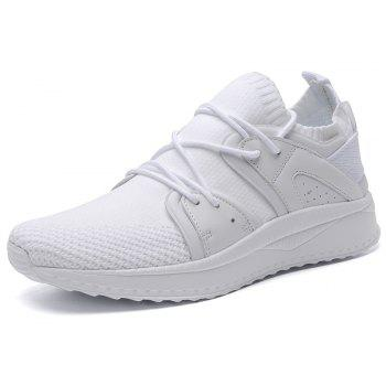Fly Socks Wrapped Casual Sneakers Shoes - WHITE 43