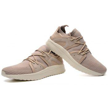Fly Socks Wrapped Casual Sneakers Shoes - APRICOT 42