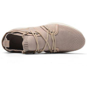 Fly Socks Wrapped Casual Sneakers Shoes - APRICOT 41