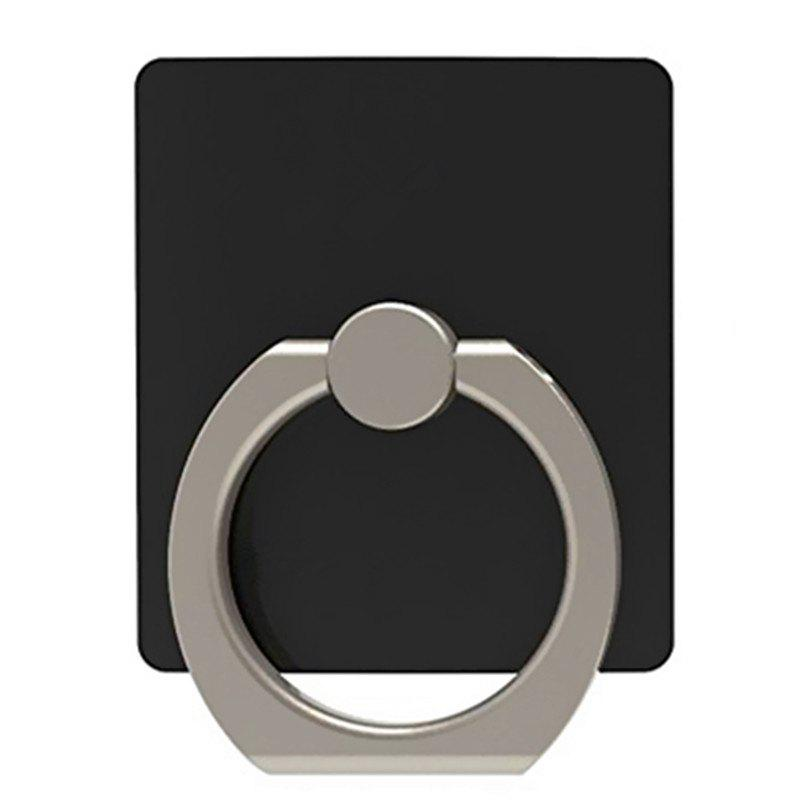 Creative Paste Ring Buckle Mobile Phone Stent - BLACK