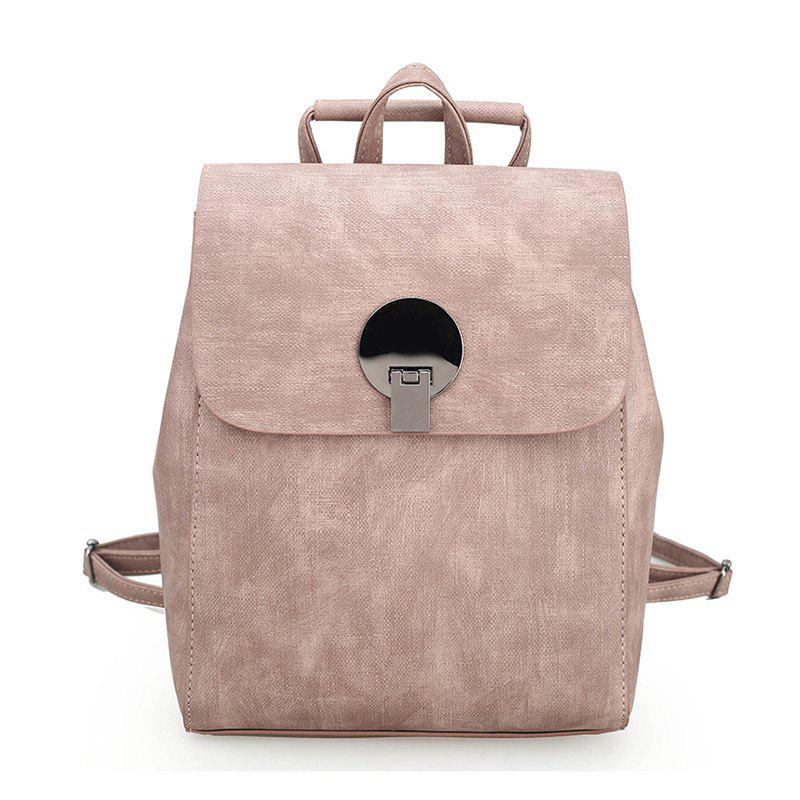Fashion Women Backpacks High Quality PU Bagpack Ladies Shoulder Bags - LIGHT PINK