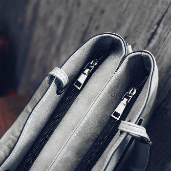 Women's Handbags High Quality PU Leather Shoulder Bags Ladies Messenger Bag - LIGHT GRAY