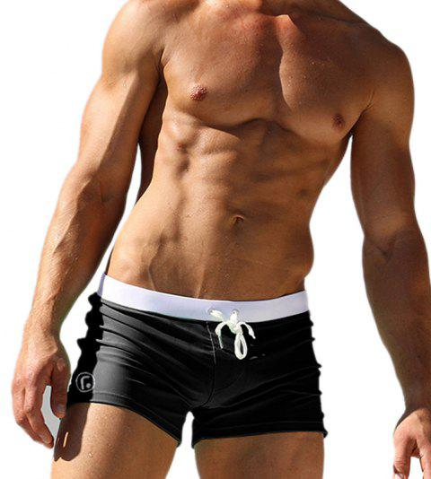 Men's Casual Boxer Shorts - BLACK 2XL