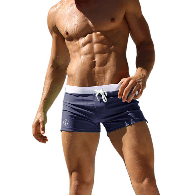 Men's Casual Boxer Shorts - BLUE 2XL