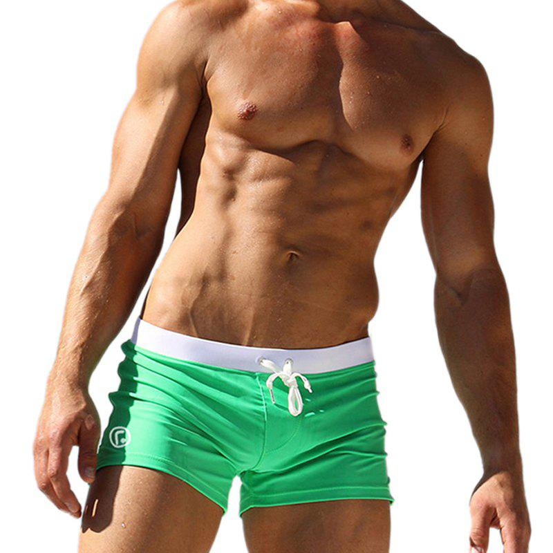 Men's Casual Boxer Shorts - GREEN XL