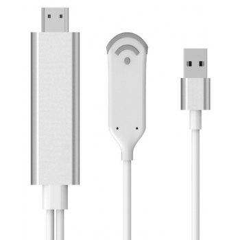For IPhone to HDMI Wireless Mirascreen Adapter Cable - SILVER 195*1.4*0.3CM