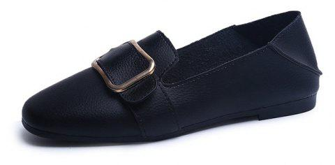 Flat Bottom  Leisure Student Women's Shoes - BLACK 36