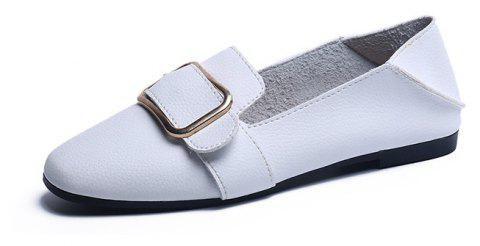 Flat Bottom  Leisure Student Women's Shoes - WHITE 38