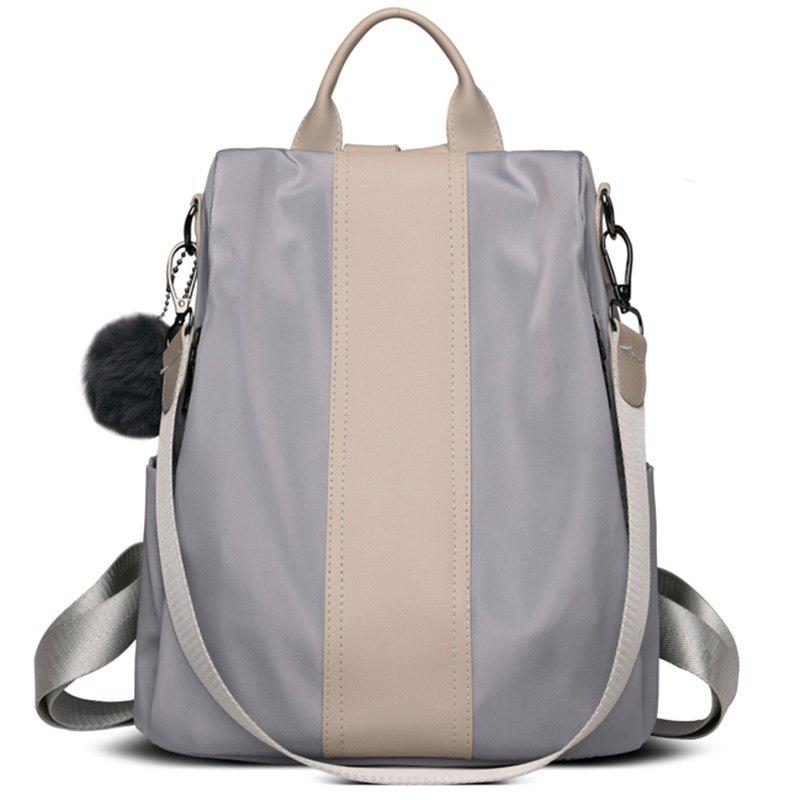 Personality Wild Canvas Schoolbag - GRAY CLOUD