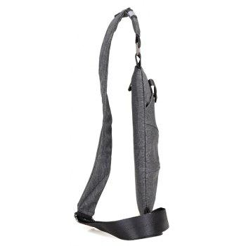 Men Design High Capacity Chest Bag Man Crossbody Bags - BATTLESHIP GRAY