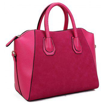 European And American Frosted Hand Bill Of Lading Shoulder Bag - DEEP PINK