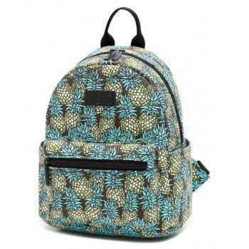 Women'S Backpack Fruit Pineapples Pattern Casual Trendy Sweet Large Capacity Bag - SPRING GREEN VERTICAL