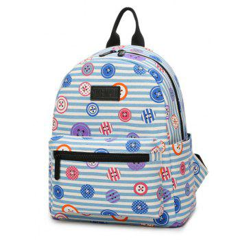 Women'S Backpack Casual Preppy Large Capacity Color Block Stylish All Match Bag - LIGHT SKY BLUE VERTICAL
