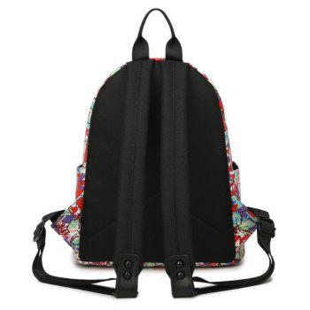 Women'S Backpack Sweet Flowers Pattern Casual Preppy Large Capacity Stylish All - FIRE ENGINE RED VERTICAL