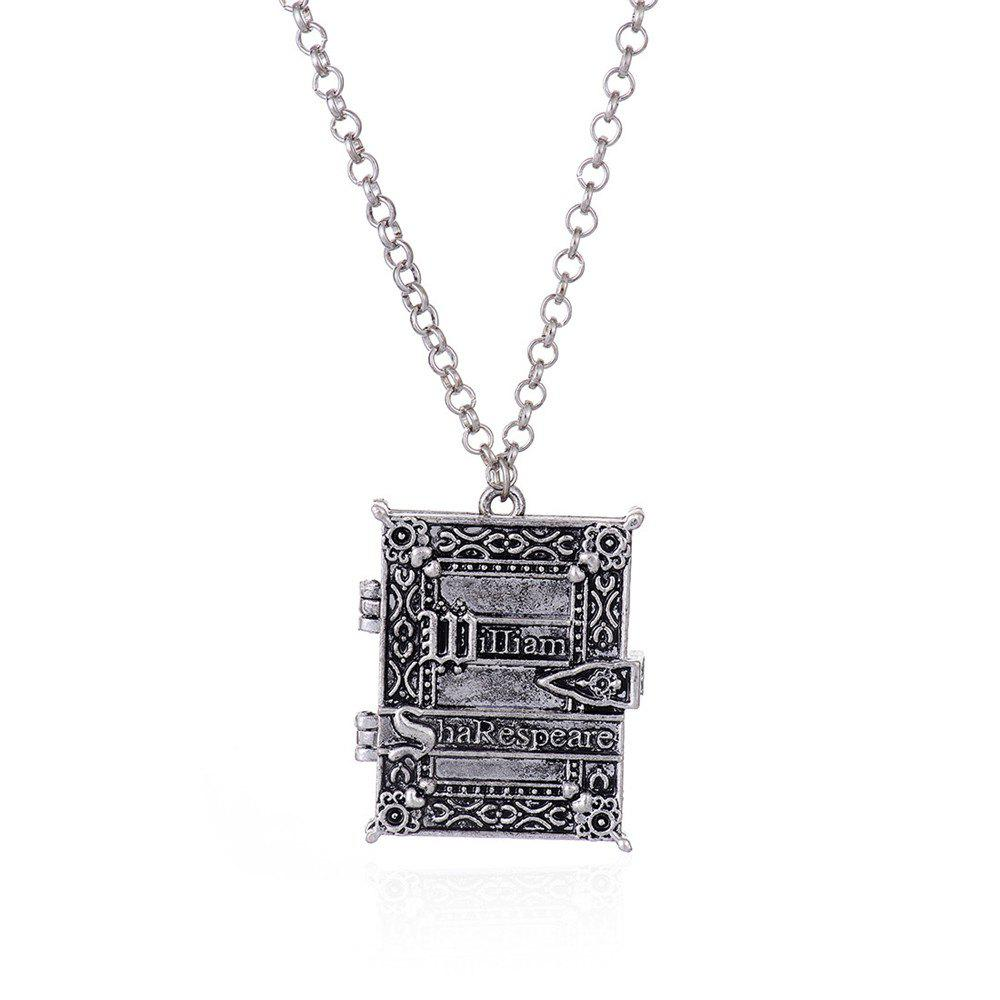 European and American Fashion Gothic Photo Frame Alloy Pendant Necklace - SILVER