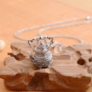European and American Fashion Jewelry Gothic Vintage Potty Pendant Necklace - SILVER