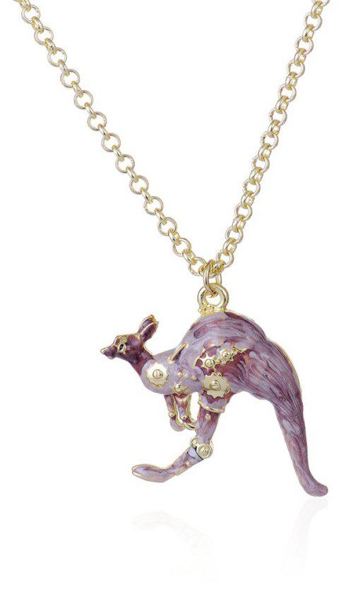 European and American Foreign Trade Fashion Drops Kangaroo Pendant Necklace - PUCE