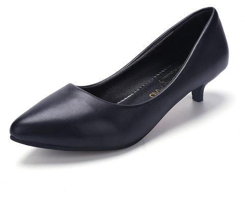 Black Pointy Heels Chaussures pour femmes - Noir 38